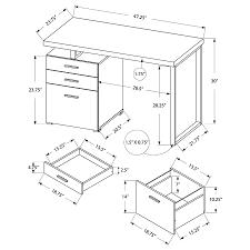Desk Measurements Plain Desk Dimensions Modern Office Furniture Standard On Design