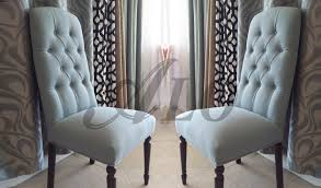 DIYHOW TO REUPHOLSTER A DINING ROOM CHAIR WITH BUTTONS ALO - Reupholstered dining room chairs