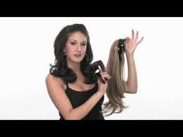 hair attached headbands uk headband fall hairdo by jessica simpson youtube