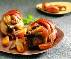 cuisiner caille recette cailles farcies confit d échalote à l orange