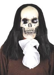 halloween skeleton mask skull mask with hair masks