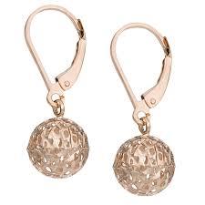 are leverback earrings for pierced ears fremada 10k gold diamond cut pierced leverback earrings