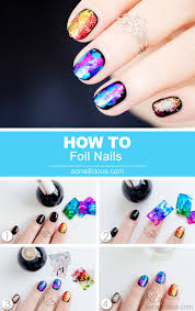 metallic nail foil wraps foil nails how to