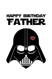 star wars funny birthday card for dad diy printable bespoke prints