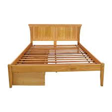 Rustic Wooden Bed Frame Bed Frames Custom Wood Beds Solid Wood Bed Amish Platform Bed