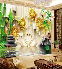 online buy wholesale bamboo print curtains from china bamboo print