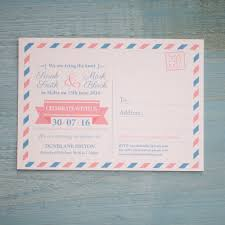 wedding invitations malta airmail travel postcard invitation vintage wedding stationery