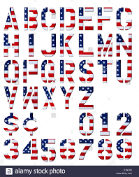 American Flag In Text Letters Numbers And Dollar U0026 Cent Signs Cut Out From Usa Flag