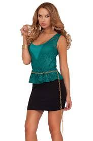 peplum gold belt mini sleeveless lace crochet cocktail work party