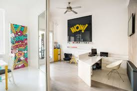 Interior Design Of An Office Cool Offices Office Filled With Graphics And Artwork In Budapest