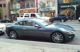 blue maserati maserati granturismo in light blue colour 1 madwhips