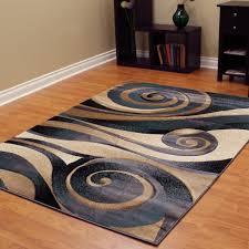 sculpture 258 abstract swirl blue area rug 5 u0027 x 7 u0027 free