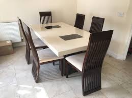 Dining Table And Chairs For 6 Chair Dining Table Set For 6 7 Dining Room Set