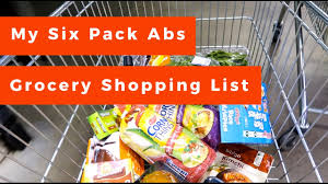 my six pack abs grocery shopping list refilling my pantry youtube