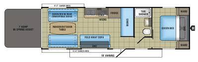 Airstream Trailer Floor Plans 2017 Octane Super Lite Toy Hauler Floorplans U0026 Prices Jayco Inc