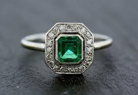 art deco emerald ring art deco colorless 363 carat emerald cut