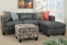 Black Leather Sofa With Chaise L Shaped Gray Leather Sofa Chaise Sectional Sofa And Short Black