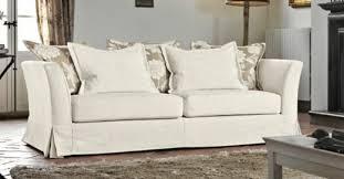 canapé tissu blanc salle de séjour canape tissu coussins beige blanc poltronesofà
