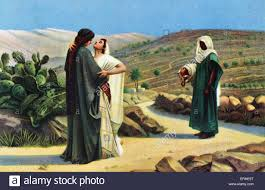 ruth and naomi in the desert biblical image by hermogenes