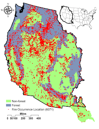 Wildfire Map Western Us by Climatic And Landscape Influences On Fire Regimes From 1984 To