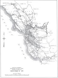California Aqueduct Map California Division Of Highways District Maps Caltrans U2013 1947