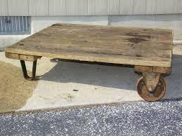 factory cart coffee table wheels ideas