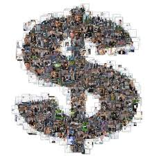 letter i photomosaic made of business photos of people all the