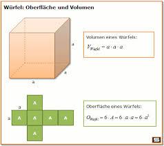 fläche kreis formel würfel formeln volumen eines würfels oberfläche eines würfels
