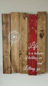 dandelion wood plaques wall rustic reclaimed pallet wood sign is a balance of holding