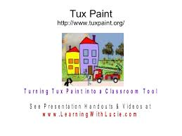 turning tux paint into a classroom tool