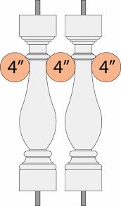 Distance Between Stair Spindles by Stair Codes