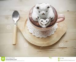 adorable latte art 3d design stock photo image 45779906