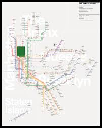 New York Map With Cities by The New York City Subway Map Redesigned U2013 Tommi Moilanen U2013 Medium