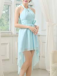 Dresses For Prom Blue Halter Midi Dress For Prom Bridesmaid Wedding Dress Ph