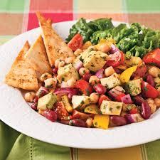 cuisine salade salade de légumineuses à la mexicaine recettes cuisine et