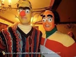 coolest creepy bert and ernie costume