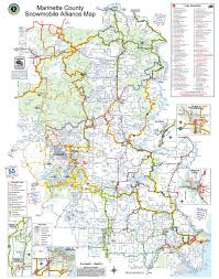 Wisconsin Lakes Map by Marinette County Maps North Country Real Estate Atv Maps