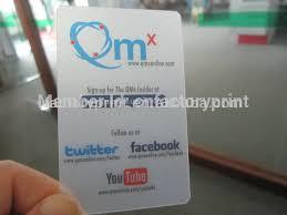 Clear Business Cards Pvc Transparent Business Cards Plastic Clear Business Cards In
