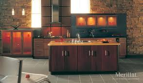 Kitchen Cabinets Merillat Martel Kitchen Love The Slab Doors And The Interior Cabinet