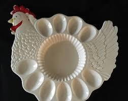 vintage deviled egg platter deviled egg platter etsy