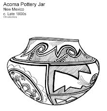acoma pottery coloring page