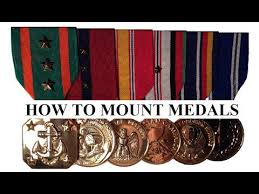 how to mount military medals yourself youtube