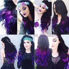 vpfashion hair extensions purple series colorful clip in c022 c022 vpfashion