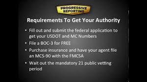dot authority how to get your mc number and more