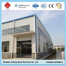 steel structure building qingdao tailong steel structure co