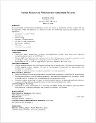 resume summary exles human resources assistant skills human resources assistant resume exles exles of resumes