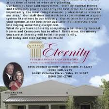 funeral homes jacksonville fl eternity funeral homes crematory funeral services cemeteries