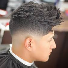 Razor Cut Hairstyle With Spiky On Top | the razor fade haircut