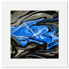 wall decor for sale blue swirl clock multimedia abstract wall