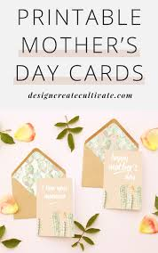 free printable mother u0027s day cards design create cultivate